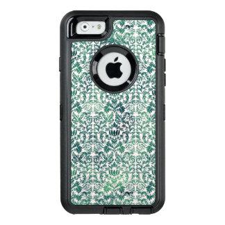 Steampunk grüner Damast beunruhigtes mit OtterBox iPhone 6/6s Hülle