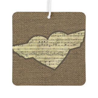 Steampunk Herz Wings viktorianisches Musik-Blatt Autolufterfrischer