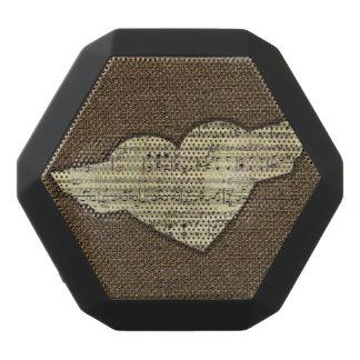 Steampunk Herz Wings viktorianisches Musik-Blatt Schwarze Bluetooth Lautsprecher