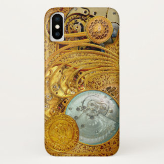 Steampunk im Imitat-Gold iPhone X Hülle