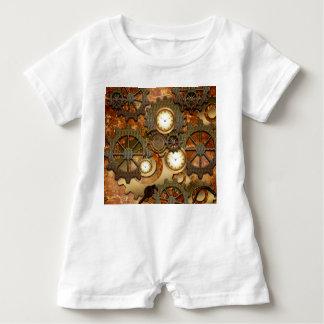 Steampunk in den goldenen Farben Baby Strampler