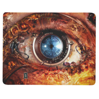 Steampunk Kamera-Auge Taschennotizbuch
