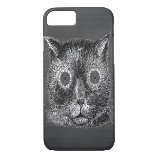 Steampunk Katzen-Schwarz-Tafel iPhone 8/7 Hülle