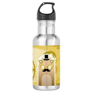 Steampunk+Katzen-Wasser-Flasche Trinkflasche