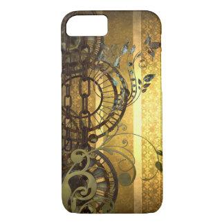 Steampunk Ketten und Blumen iPhone 8/7 Hülle
