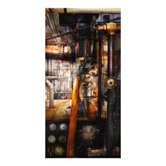 Steampunk - Klempnerarbeit - Rohre Photo Grußkarte