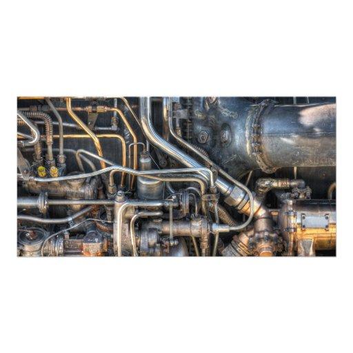 Steampunk Klempnerarbeit-Rohre Photogrußkarten
