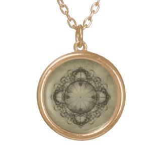 Steampunk Kompass-Kunst-Halskette Halskette Mit Rundem Anhänger