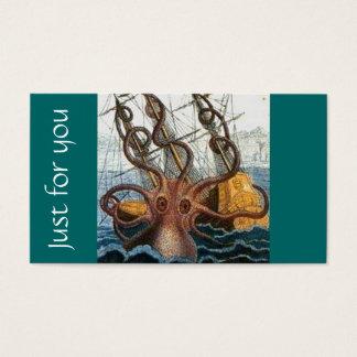 Steampunk Kraken riesige Krake nautisch Visitenkarte