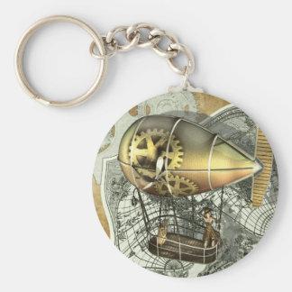 Steampunk lenkbar-Luft-Ausflug Keychain Standard Runder Schlüsselanhänger