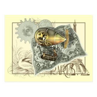Steampunk lenkbar-Luft-Ausflug-Postkarte Postkarten