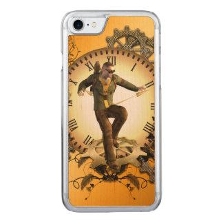 Steampunk, Mann auf einer Uhr Carved iPhone 8/7 Hülle
