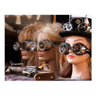 Steampunk Mannequins Postkarte