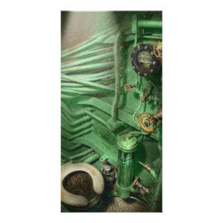 Steampunk - Marine - Klempnerarbeit - der Kopf Photokartenvorlage