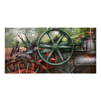 Steampunk - Maschine - Transport der Zukunft Individuelle Photo Karte