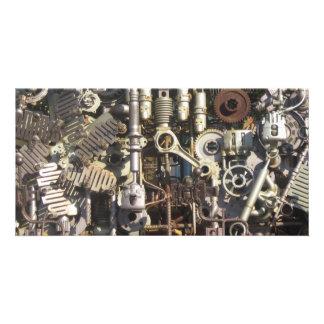 Steampunk Maschinerie Individuelle Foto Karte
