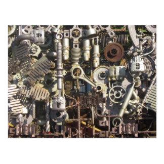 Steampunk Maschinerie Postkarte