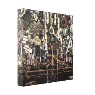 Steampunk mechanische Maschineriemaschinen Leinwanddruck