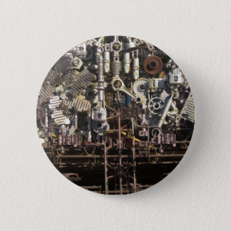 Steampunk mechanische Maschineriemaschinen Runder Button 5,1 Cm