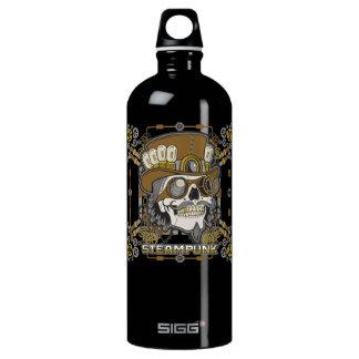 Steampunk mechanischer Schädel Wasserflasche