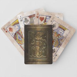 Steampunk Metall Poker Karten