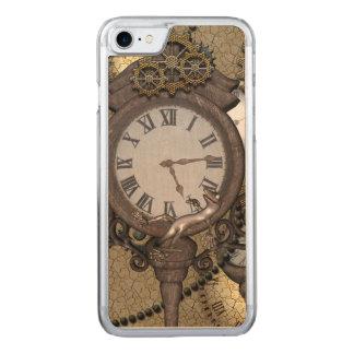 Steampunk mit Uhren und Gängen, Carved iPhone 8/7 Hülle