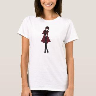 Steampunk Modemädchen in den schwarzen Hosen und T-Shirt