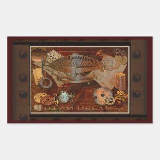 Steampunk nostalgische viktorianische rechteckiger aufkleber