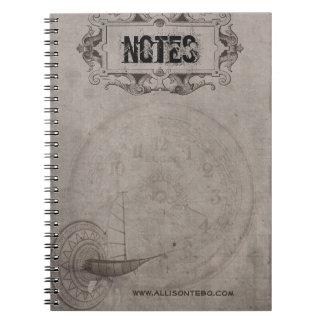 Steampunk Notizbuch Notizblock