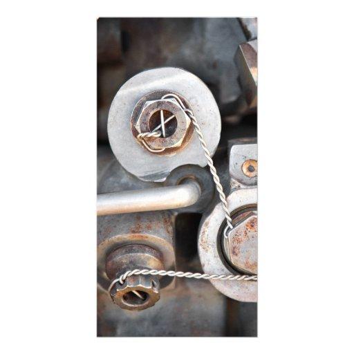 Steampunk Nüsse - und - Bolzen mit Draht Foto Karte