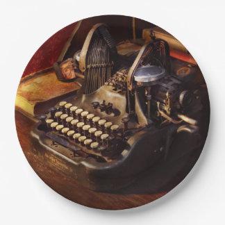 Steampunk - Oliver Schreibmaschine Pappteller