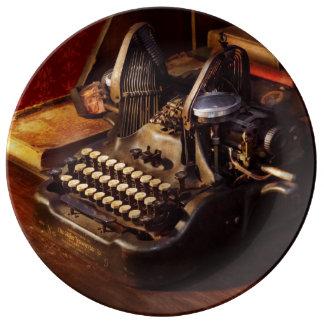 Steampunk - Oliver Schreibmaschine Porzellanteller