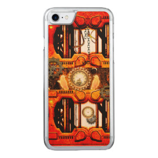 Steampunk roter goldener Entwurf Carved iPhone 8/7 Hülle