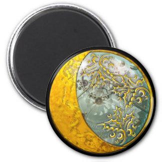 Steampunk - runder Magnet Runder Magnet 5,7 Cm