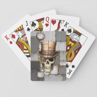 Steampunk Schädel-Spielkarten Spielkarten