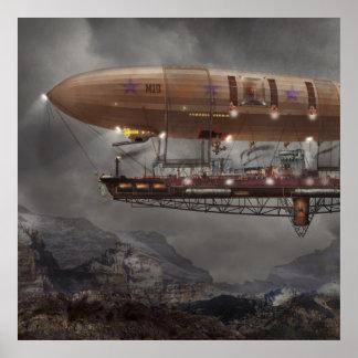 Steampunk - schalldichte Zelle - Luftschiff Maximu Plakatdruck