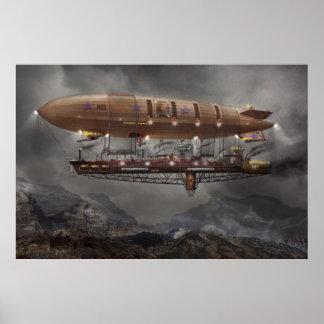 Steampunk - schalldichte Zelle - Luftschiff Maximu Plakat