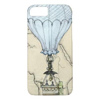 Steampunk Schmutz-Heißluft-Ballon mit Karte iPhone 8/7 Hülle