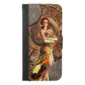 Steampunk, schöne Dampffrauen iPhone 6/6s Plus Geldbeutel Hülle