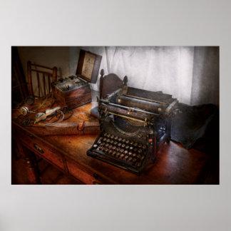 Steampunk - Schreibmaschine - der geheime Bote Poster