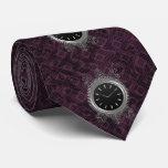 Steampunk silberne Metalluhr Krawatten