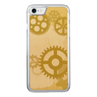 Steampunk smartphone Holz-Kasten Carved iPhone 8/7 Hülle