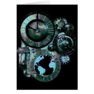 Steampunk Uhr Karte