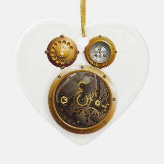 Steampunk Uhr Keramik Ornament