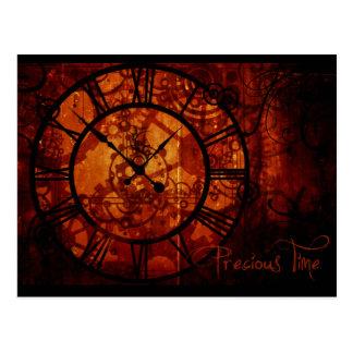 Steampunk Uhr Postkarte