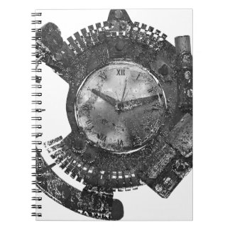 Steampunk Uhr Spiral Notizblock