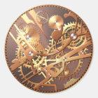 steampunk Uhr übersetzt Aufkleber