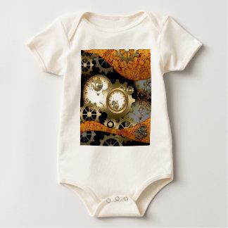 Steampunk, Uhren und Gänge Baby Strampler