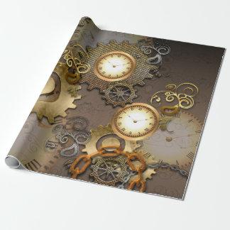 Steampunk, Uhren und Gänge I Geschenkpapier