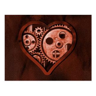 Steampunk Valentinsgruß Postkarte